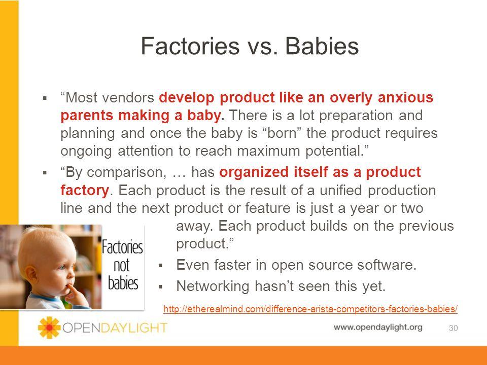 Factories vs. Babies