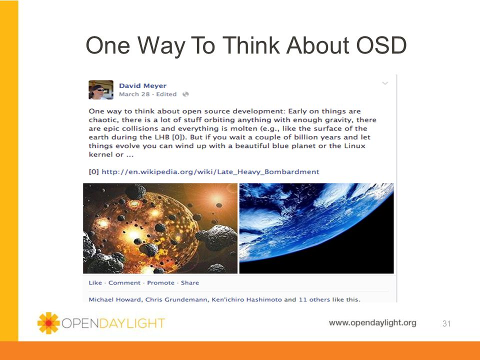 One Way To Think About OSD