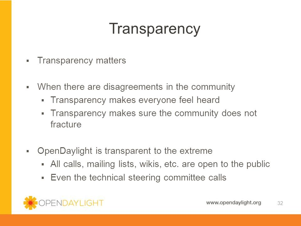 Transparency Transparency matters