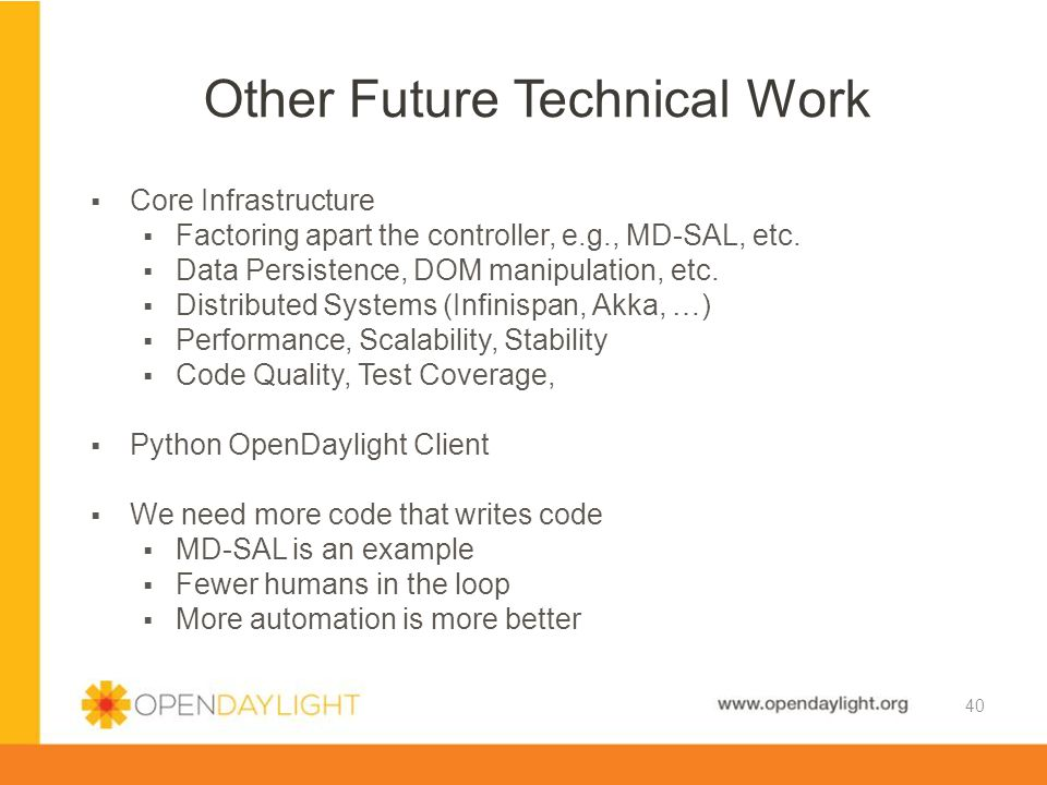Other Future Technical Work