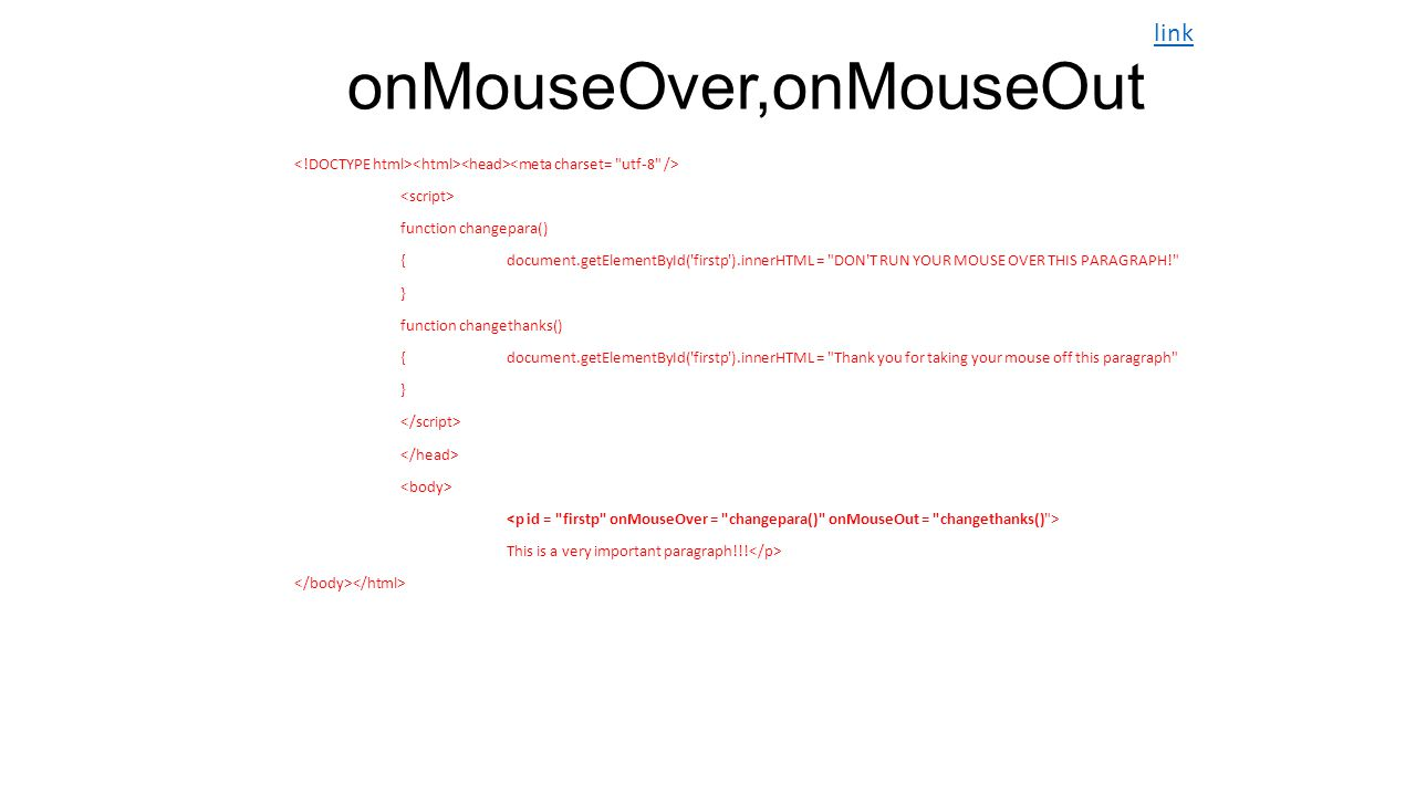 onMouseOver,onMouseOut