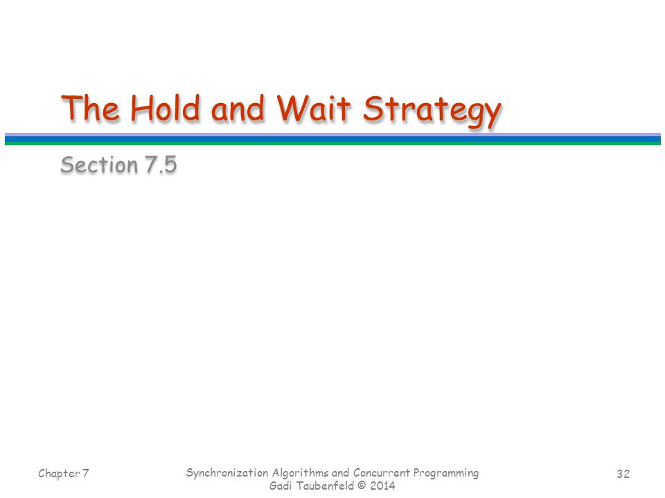 The Hold and Wait Strategy