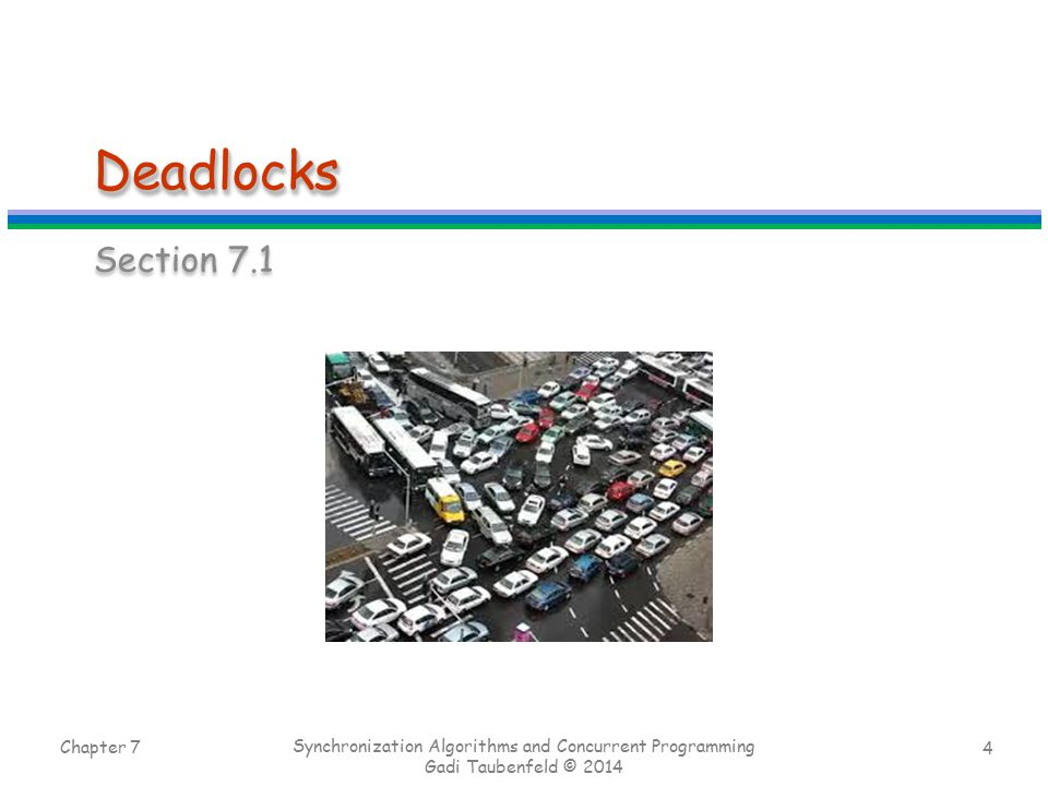 Deadlocks Section 7.1 Chapter 7