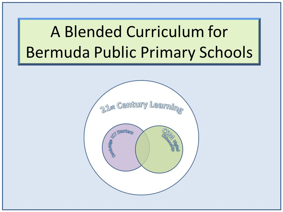 A Blended Curriculum for Bermuda Public Primary Schools