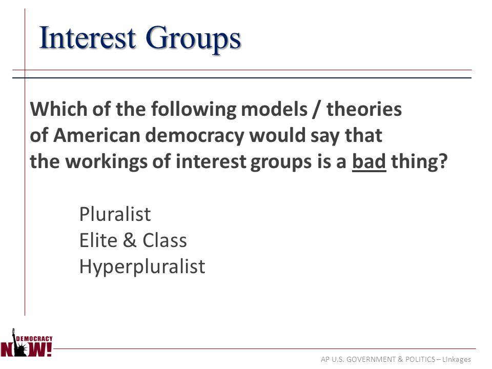 AP U.S. GOVERNMENT & POLITICS – Linkages