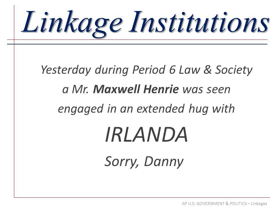 Linkage Institutions IRLANDA Sorry, Danny