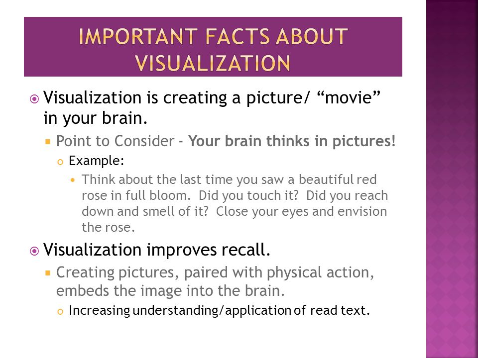 Important facts about visualization