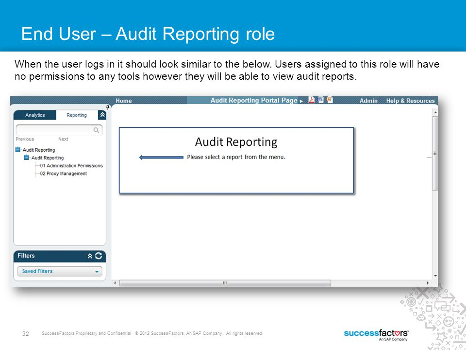 End User – Audit Reporting role