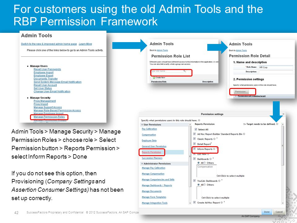 For customers using the old Admin Tools and the RBP Permission Framework
