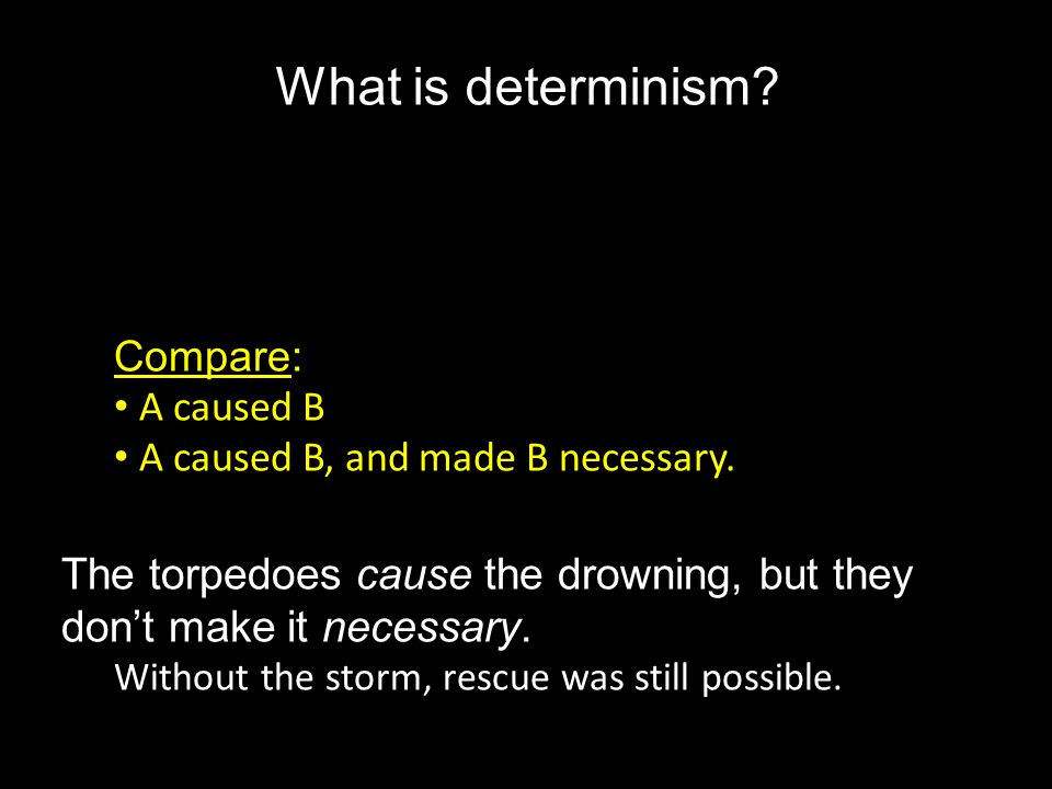 a comparison of the views of determinism and fatalism on free will From one perspective determinism is true from the other free will is true  that ' is everything determined, fatalistic etc' or, the idea free will is unfettered volition   position, without the slightest difference, on this point, putting emphasis as.