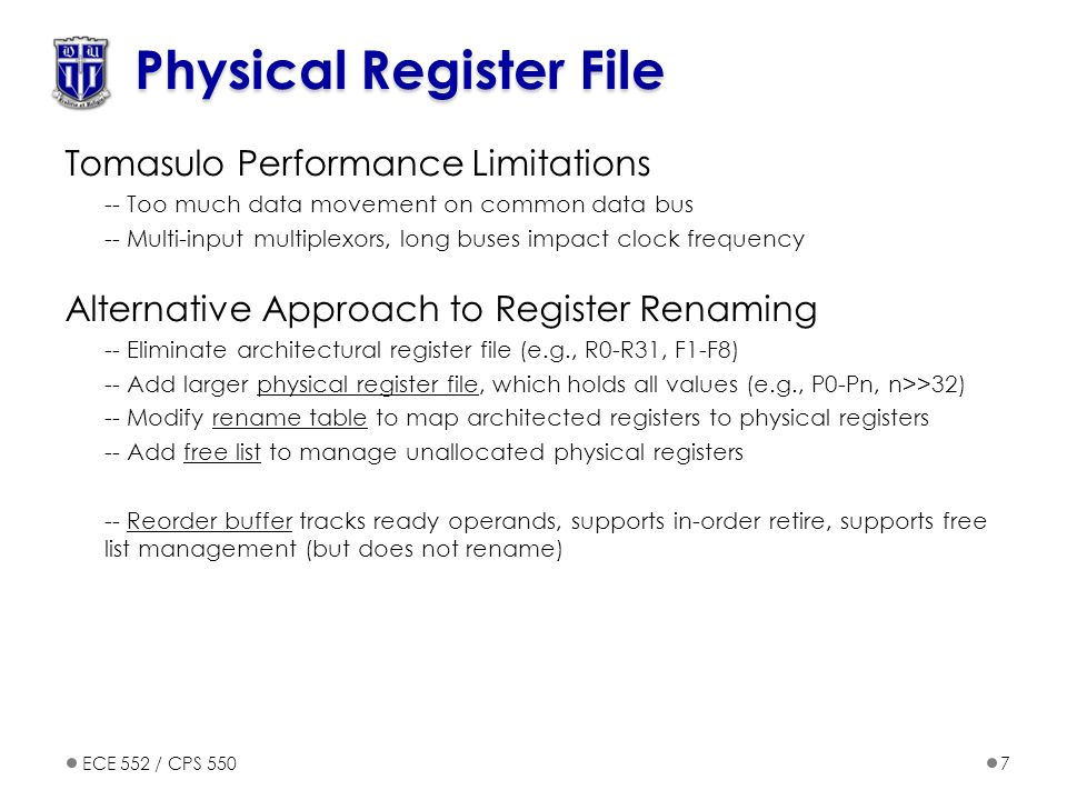 Physical Register File
