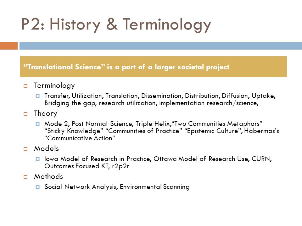 P2: History & Terminology