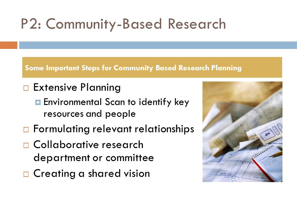P2: Community-Based Research