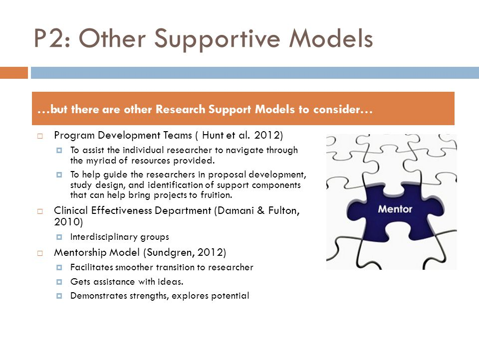 P2: Other Supportive Models