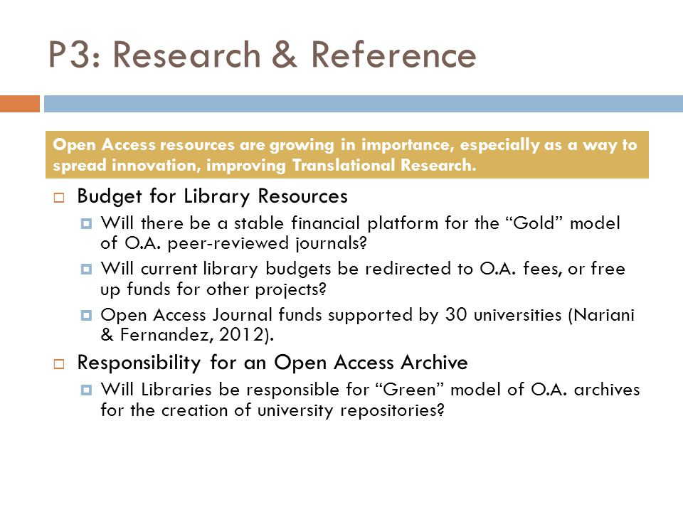 P3: Research & Reference