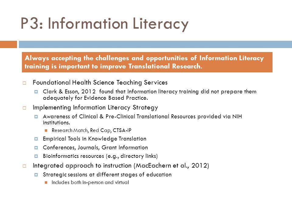 P3: Information Literacy