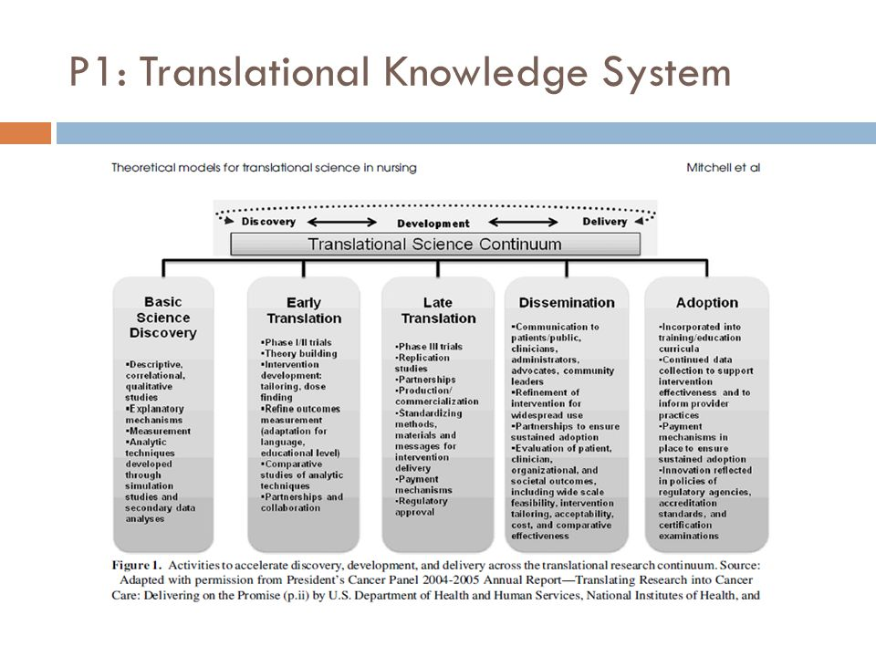 P1: Translational Knowledge System