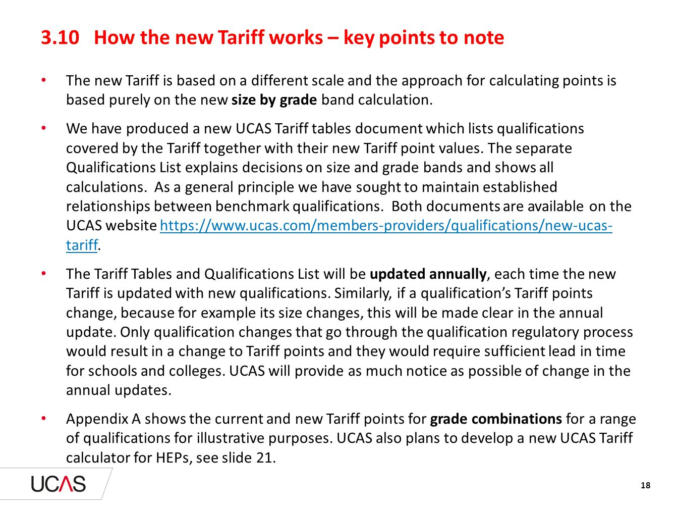 3.10 How the new Tariff works – key points to note