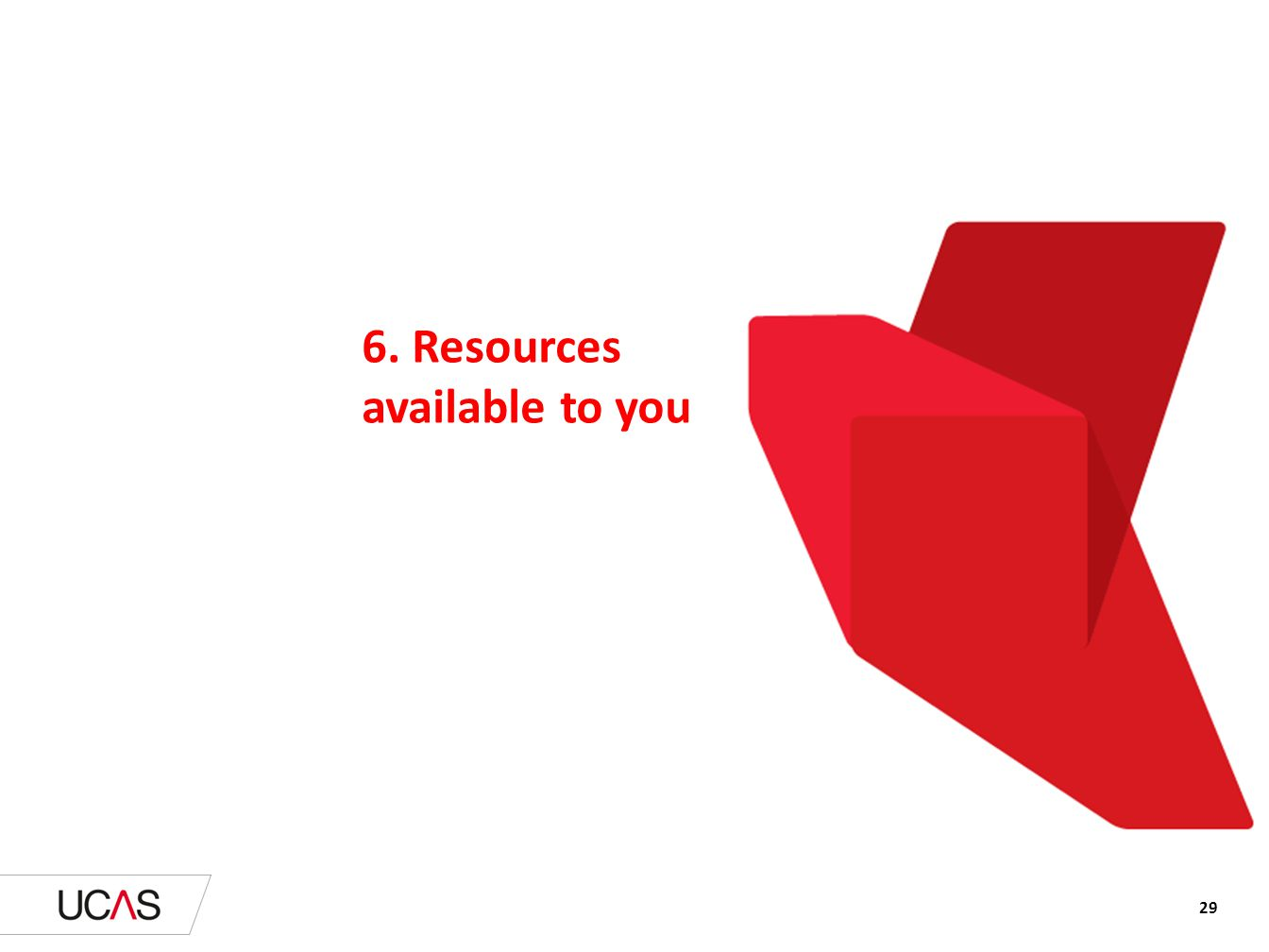 6. Resources available to you