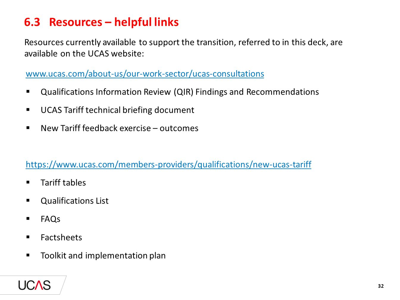 6.3 Resources – helpful links