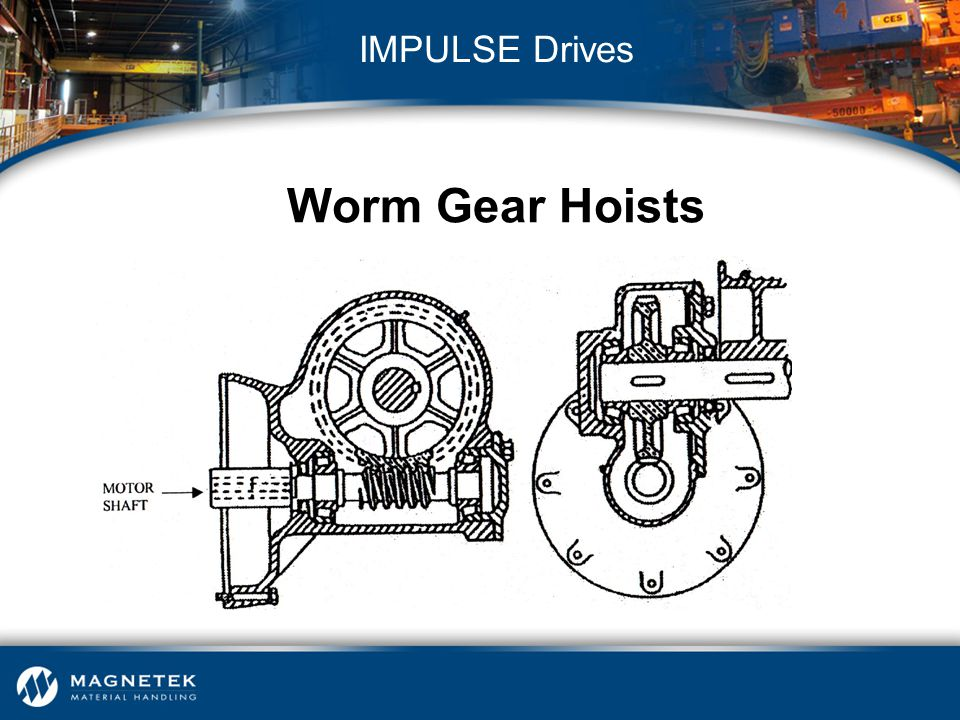 IMPULSE Drives Worm Gear Hoists Worm Gear hoist