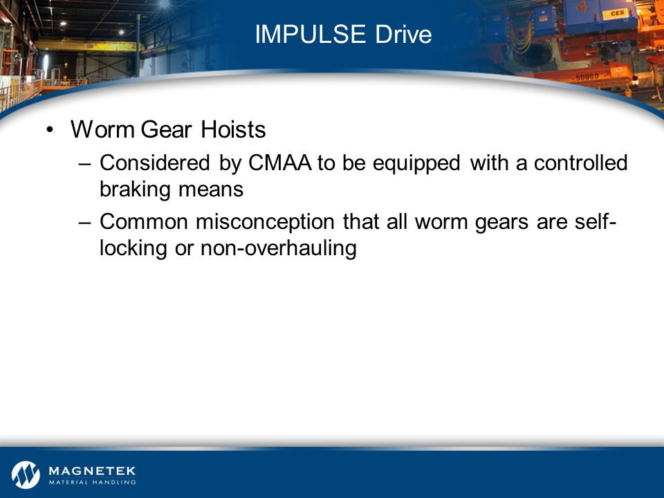 IMPULSE Drive Worm Gear Hoists