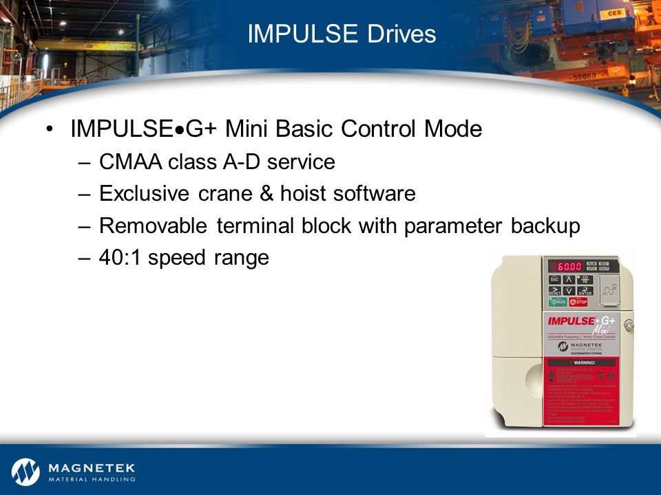 IMPULSE Drives IMPULSEG+ Mini Basic Control Mode