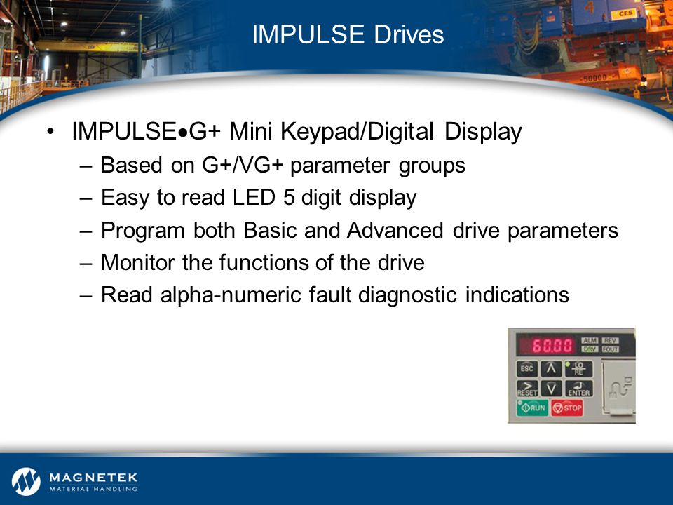 IMPULSE Drives IMPULSEG+ Mini Keypad/Digital Display