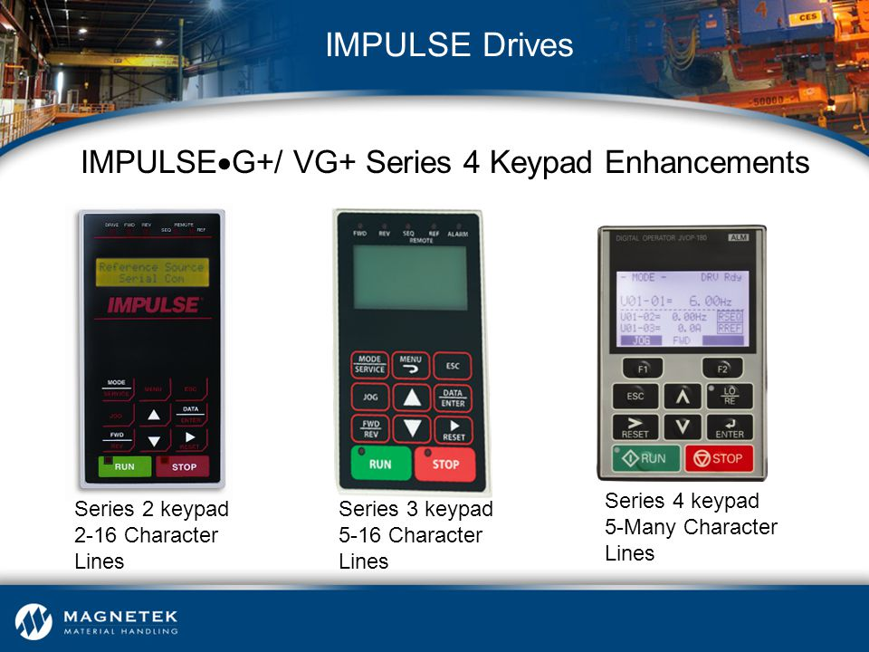 IMPULSEG+/ VG+ Series 4 Keypad Enhancements