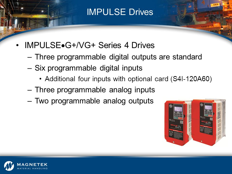 IMPULSE Drives IMPULSEG+/VG+ Series 4 Drives
