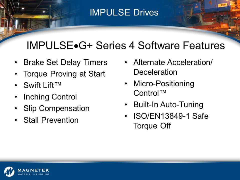 IMPULSEG+ Series 4 Software Features
