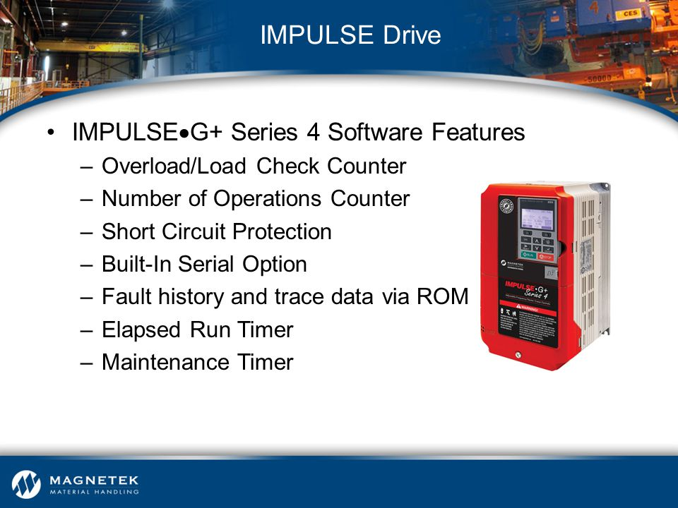 IMPULSE Drive IMPULSEG+ Series 4 Software Features