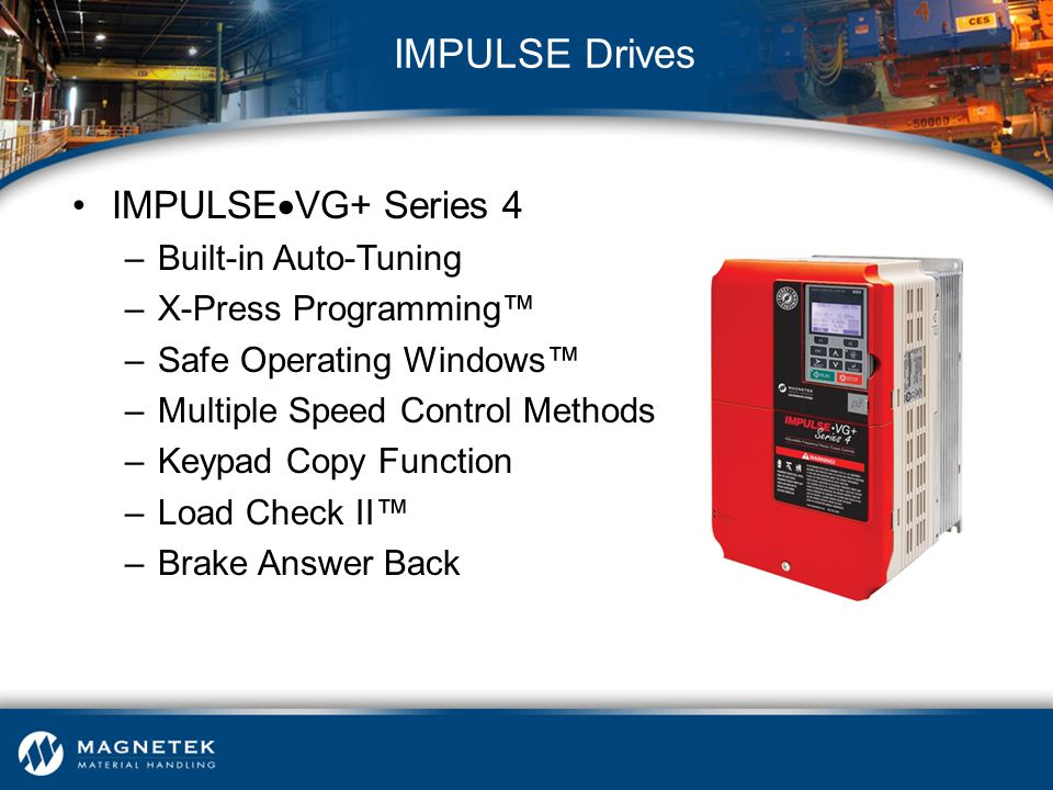 IMPULSE Drives IMPULSEVG+ Series 4 Built-in Auto-Tuning