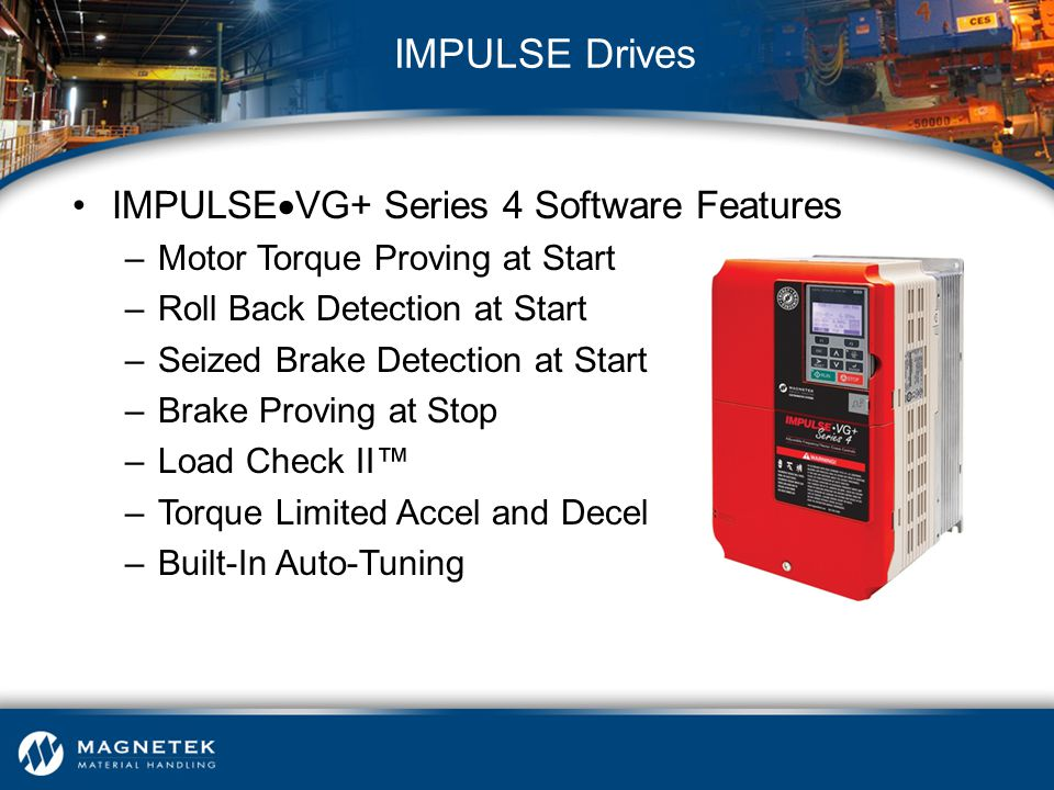 IMPULSE Drives IMPULSEVG+ Series 4 Software Features