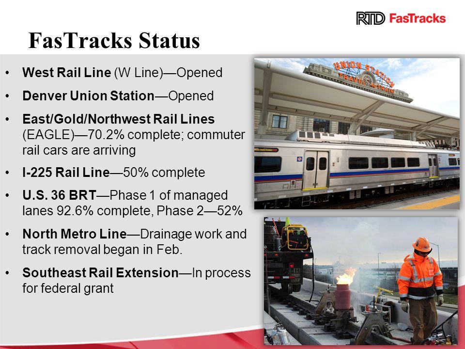 FasTracks Status West Rail Line (W Line)—Opened