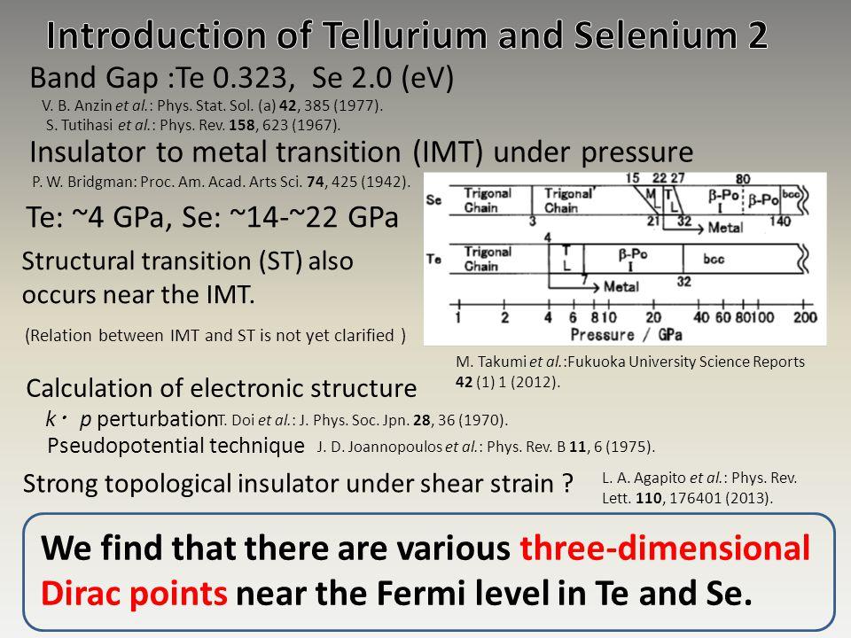 Introduction of Tellurium and Selenium 2
