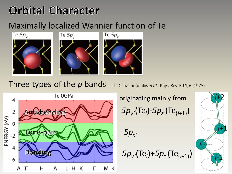 Orbital Character Maximally localized Wannier function of Te