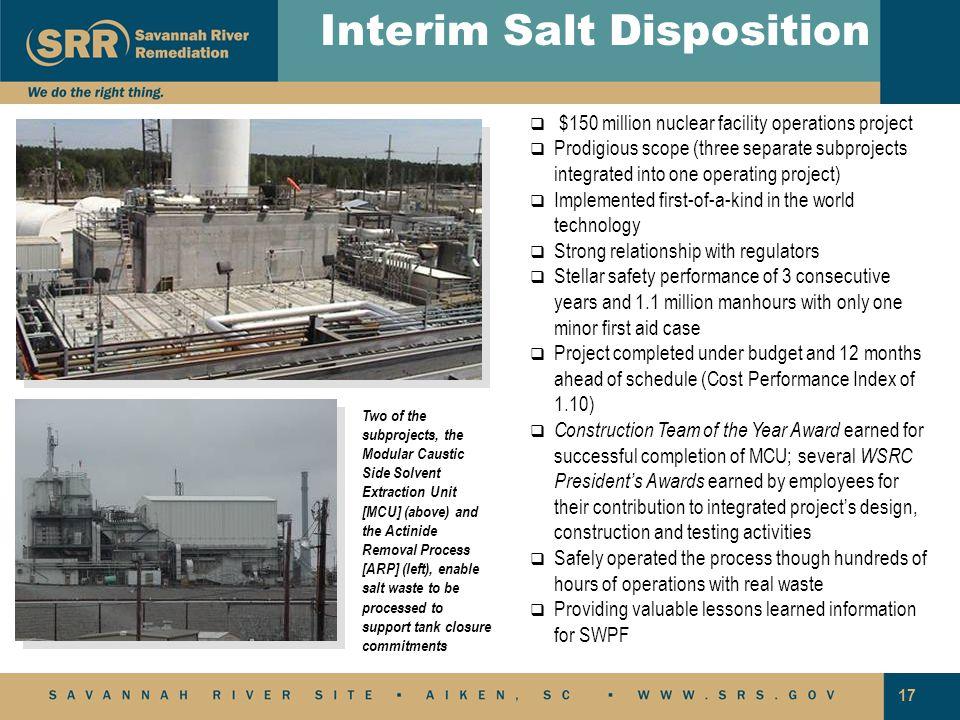 Interim Salt Disposition