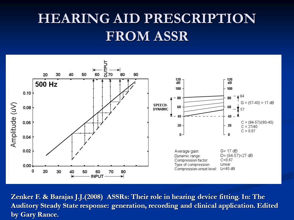 HEARING AID PRESCRIPTION FROM ASSR