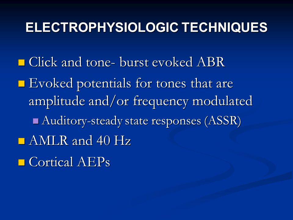 ELECTROPHYSIOLOGIC TECHNIQUES