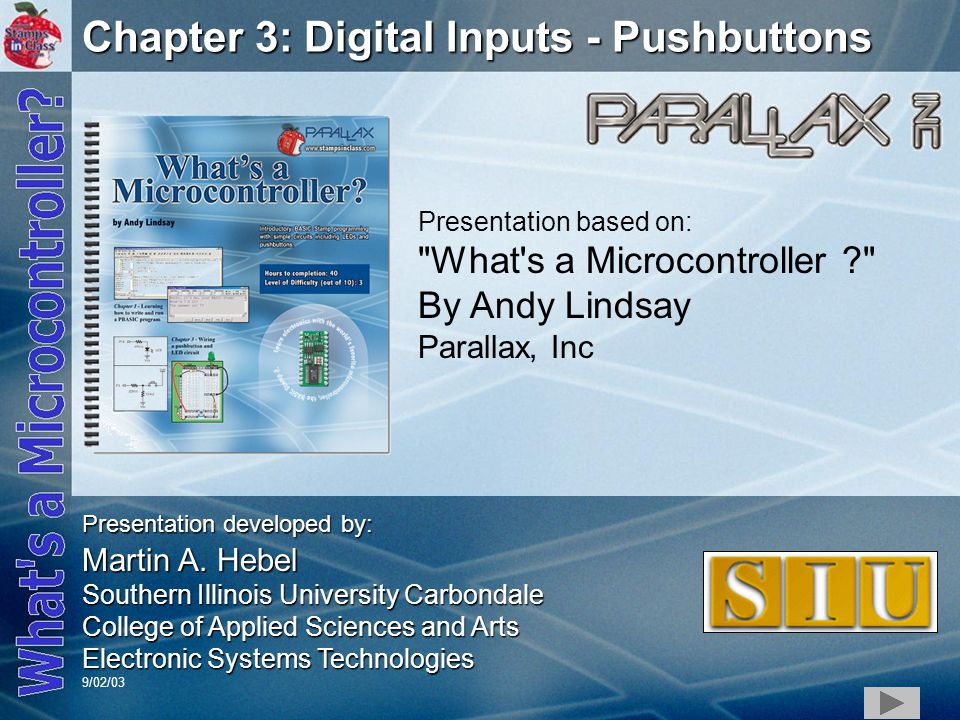 Chapter 3: Digital Inputs - Pushbuttons