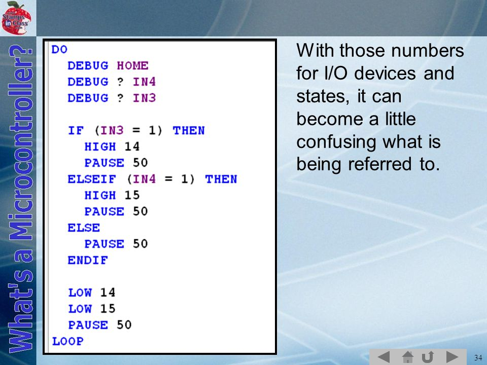 With those numbers for I/O devices and states, it can become a little confusing what is being referred to.