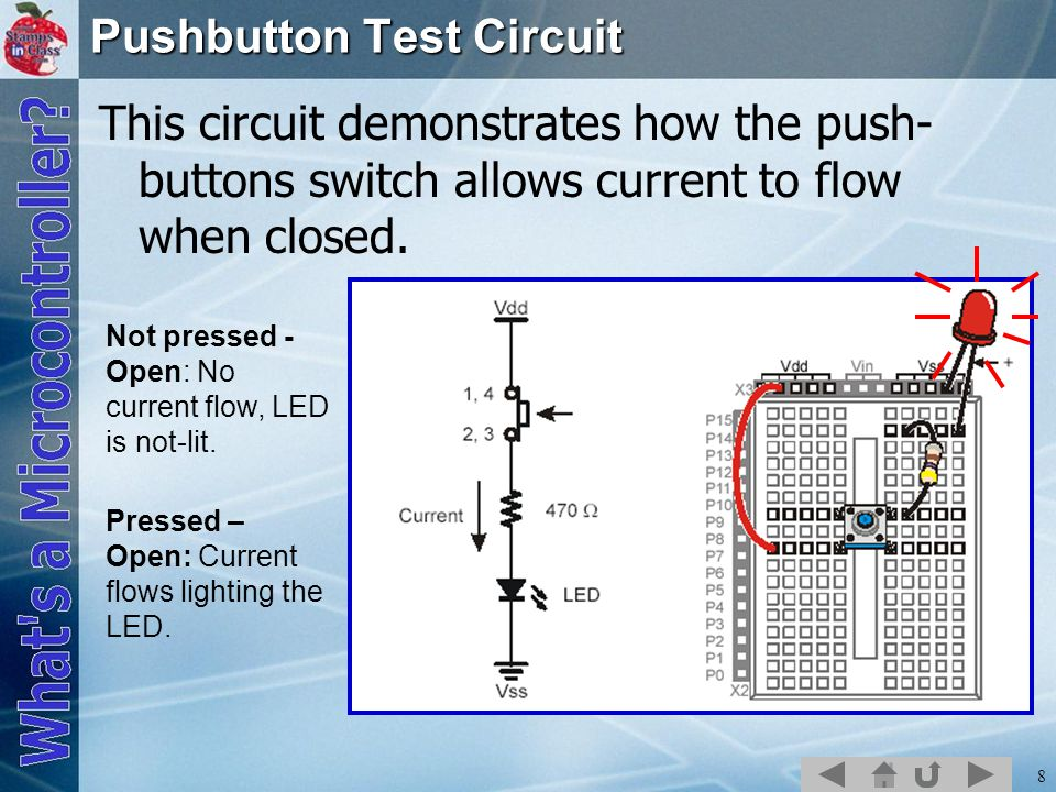 Pushbutton Test Circuit