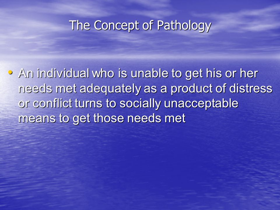 The Concept of Pathology