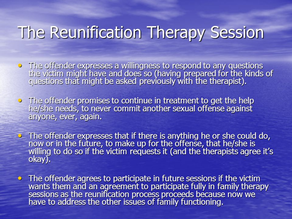 The Reunification Therapy Session