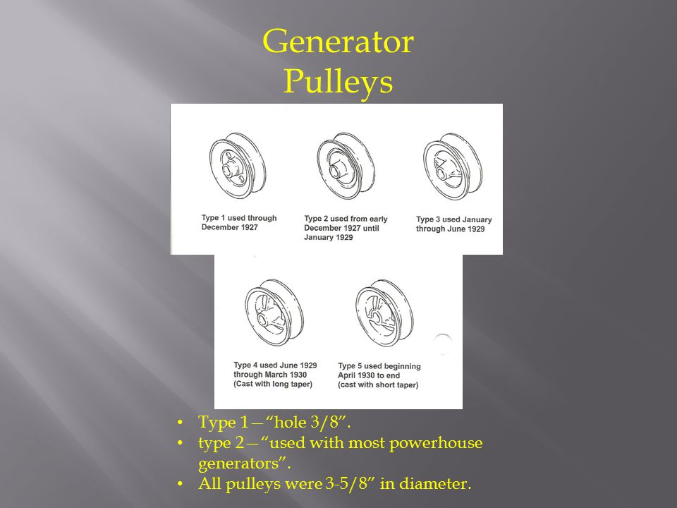 Generator Pulleys Type 1— hole 3/8 .