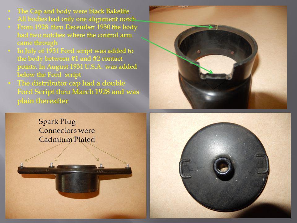 Spark Plug Connectors were Cadmium Plated