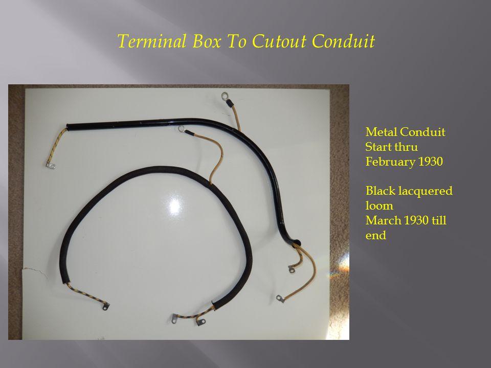 Terminal Box To Cutout Conduit