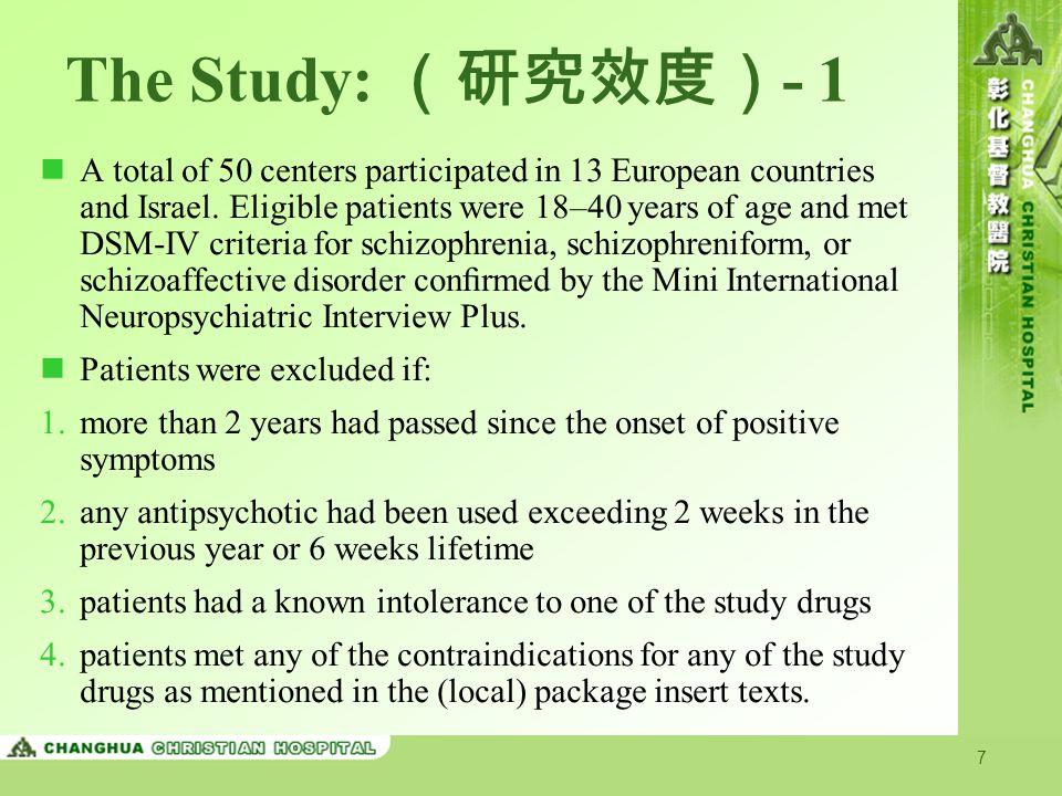 The Study: (研究效度)- 1