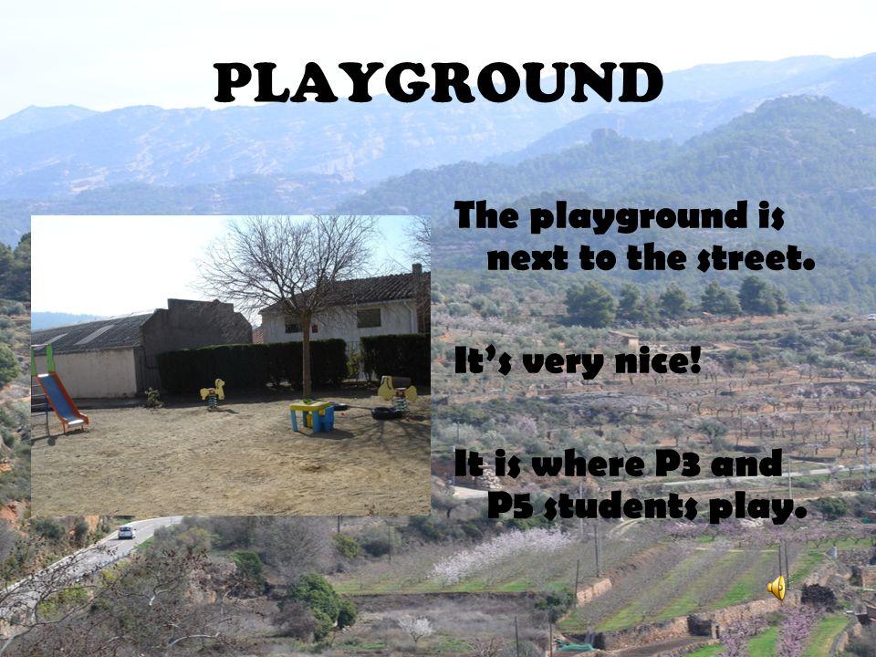 PLAYGROUND The playground is next to the street. It's very nice!